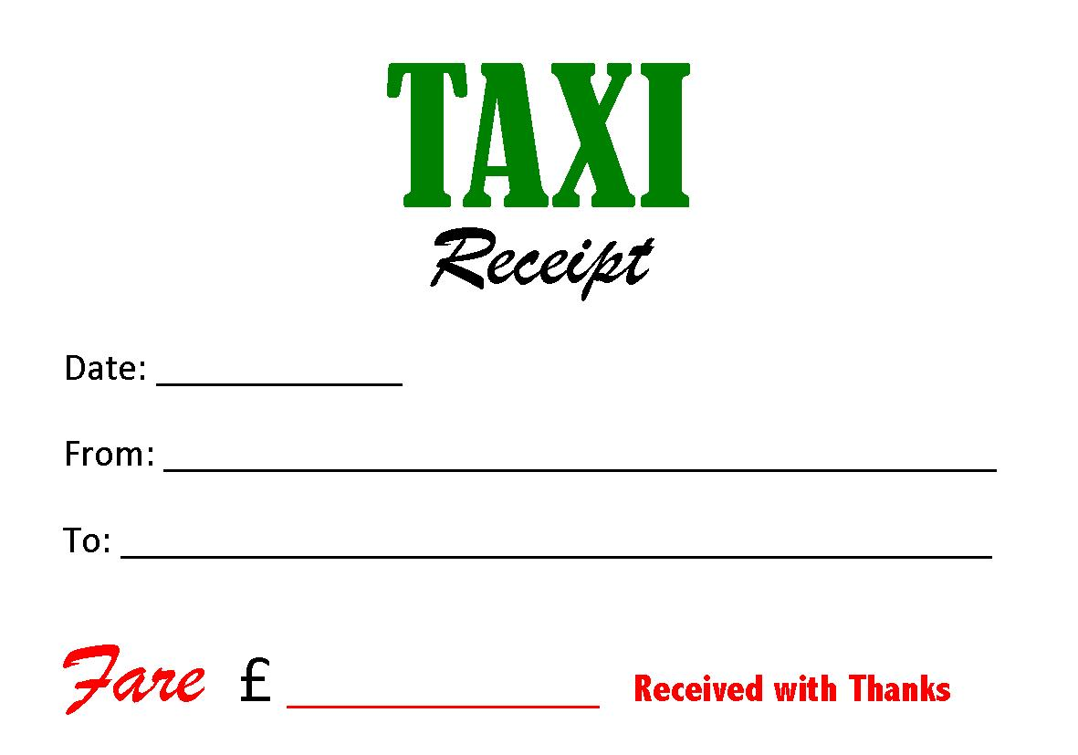 Taxi receipt template playbestonlinegames for Limo receipt template